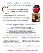 SEF Red Apple Award flyer