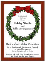 Southborough Gardeners Holiday wreath flyer