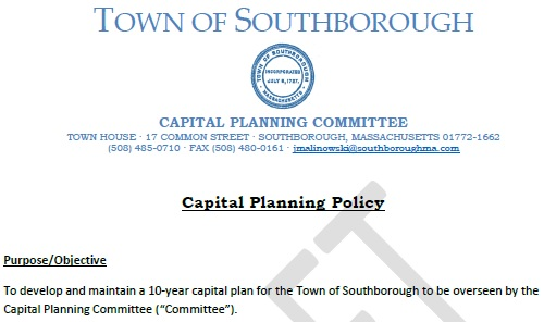Post image for Voters to be asked to establish standing Capital Planning Committee and support policy