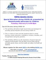 NSPAC Special Education during Covid flyer