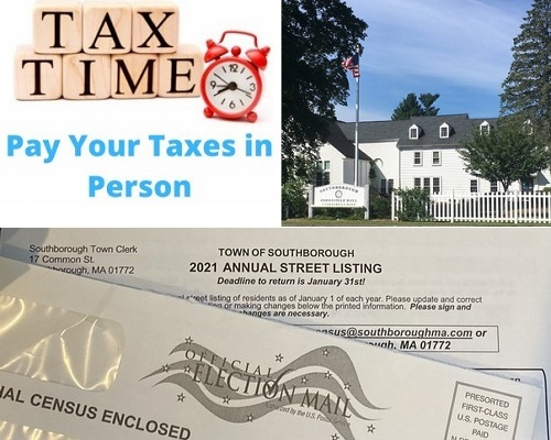 Post image for Town notices: Taxes due Feb 1 – can be paid in person Fri/Mon; Return Town Census this week