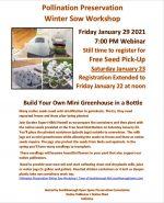 Pollination Winter Sow Workshop flyer