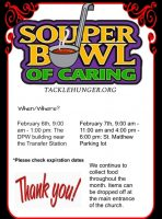Souper Bowl of Caring flyer
