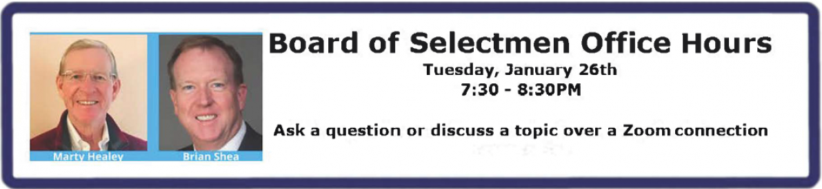 Post image for Revised format for Selectmen's virtual Office Hours