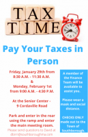Pay Your Taxes in Person flyer