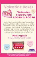 valentine boxes flyer