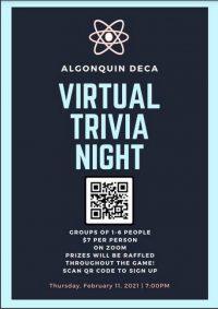 Algonquin DECA Trivia Night flyer