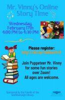 Mr Vinny story time flyer
