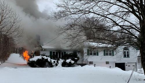 Post image for House Fire on Framingham Road yesterday afternoon (Updated)