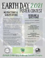 2021 Earth Day Poster Contest flyer