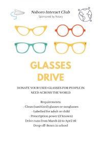 NSBORO Interact Glasses Drive flyer
