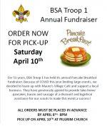 Pancake Breakfast flyer 2021