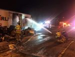 Trailer blaze on 495 - posted by SFD