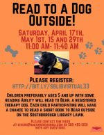 Read to a Dog Outside flyer