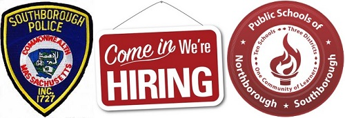 Post image for Southborough job listings: Police Officer & Distpatch; School District