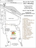 Art on the trails map 2021