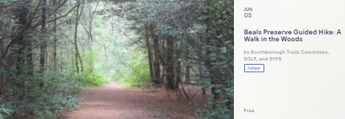 Post image for Register for a guided Walk in the Woods at Beals Preserve