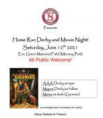 Derby & Movie Night flyer