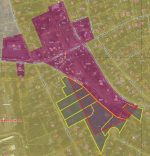 zoning map with split lot setions highlighted