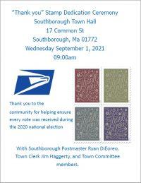Thank You Stamp Dedication Ceremony flyer