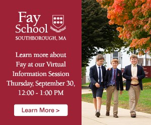 Learn more about Fay School at our Virtual Information Session Thursday, September 30