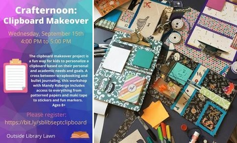 Post image for Crafternoon Clipboard Makeovers – September 15