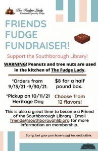 FOSL Fudge Fundraiser flyer