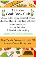 Southborough Library Cookbook Club flyer