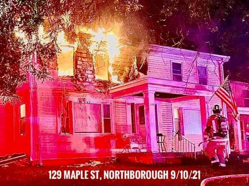 Post image for Northborough house fire: One fatality; Southborough firefighter hospitalized for minor injuries/heat exhaustion