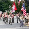 Boy Scout Troop 92 marching in the Heritage Day Parade (photo by Beth Melo)