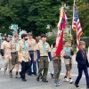 Boy Scout Troop 1 marching in the Heritage Day Parade (photo by Beth Melo)
