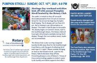 Rotary flyer Pumpkin Stroll 2021