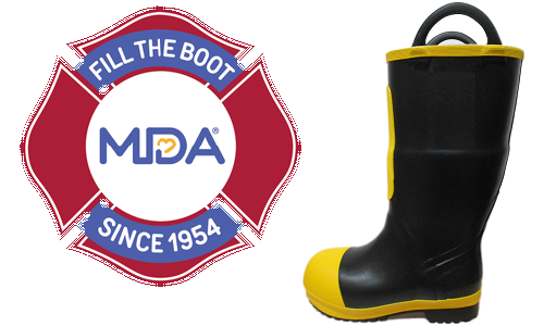 """Post image for Firefighters invite drivers to """"Fill the Boot"""" for MDA"""